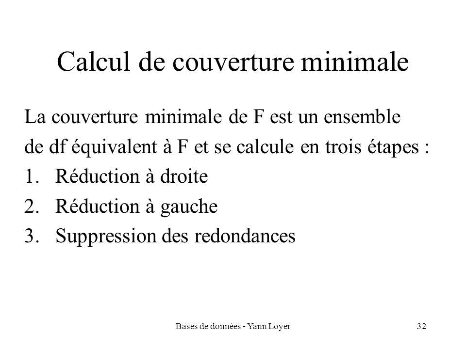 Calcul de couverture minimale