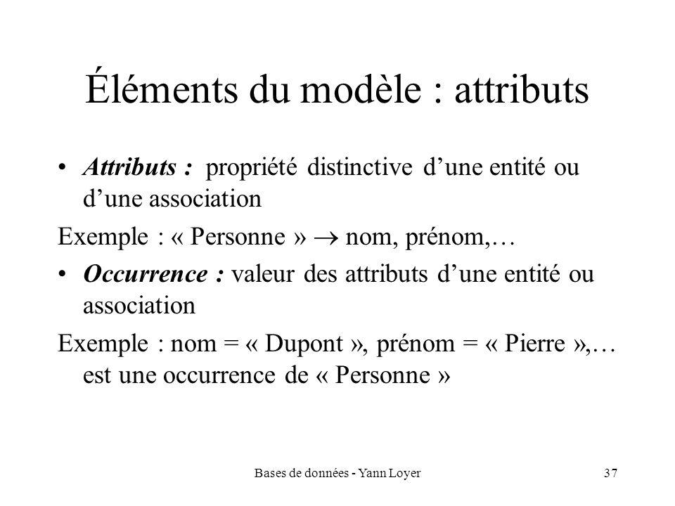 Éléments du modèle : attributs