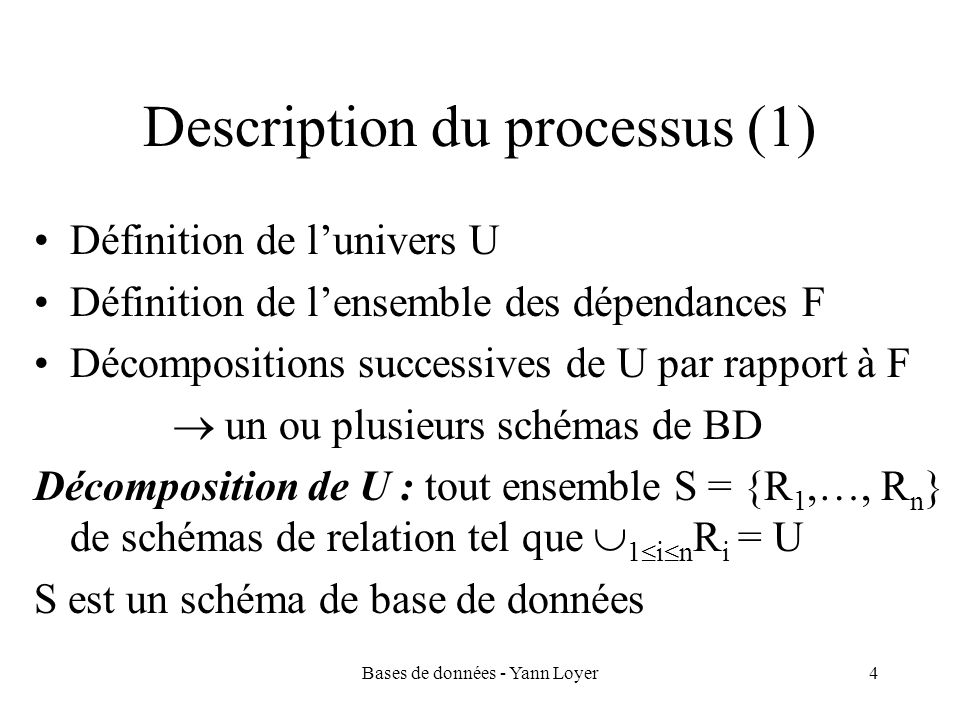 Description du processus (1)