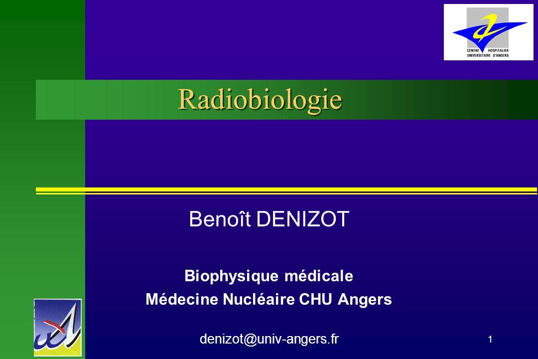 PCEM 2 CHU Angers Biophysique Radiobiologie