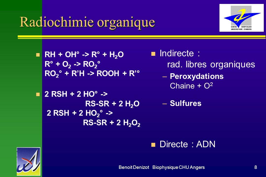 Radiochimie organique
