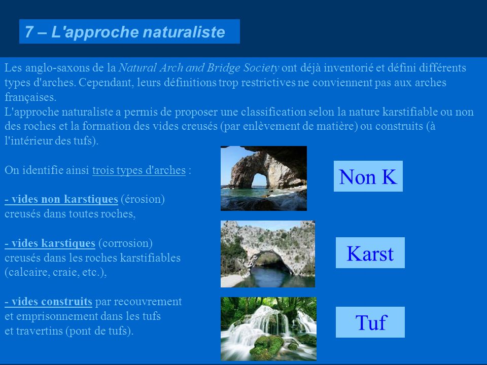Non K Karst Tuf 7 – L approche naturaliste