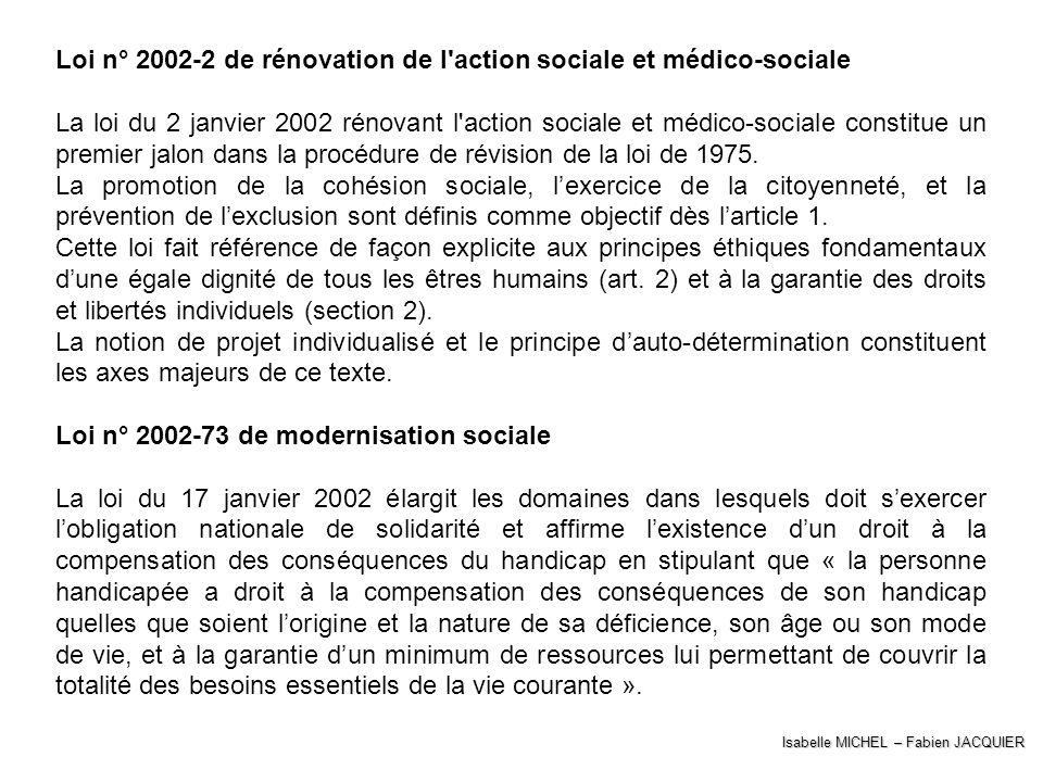 Loi n° 2002-2 de rénovation de l action sociale et médico-sociale