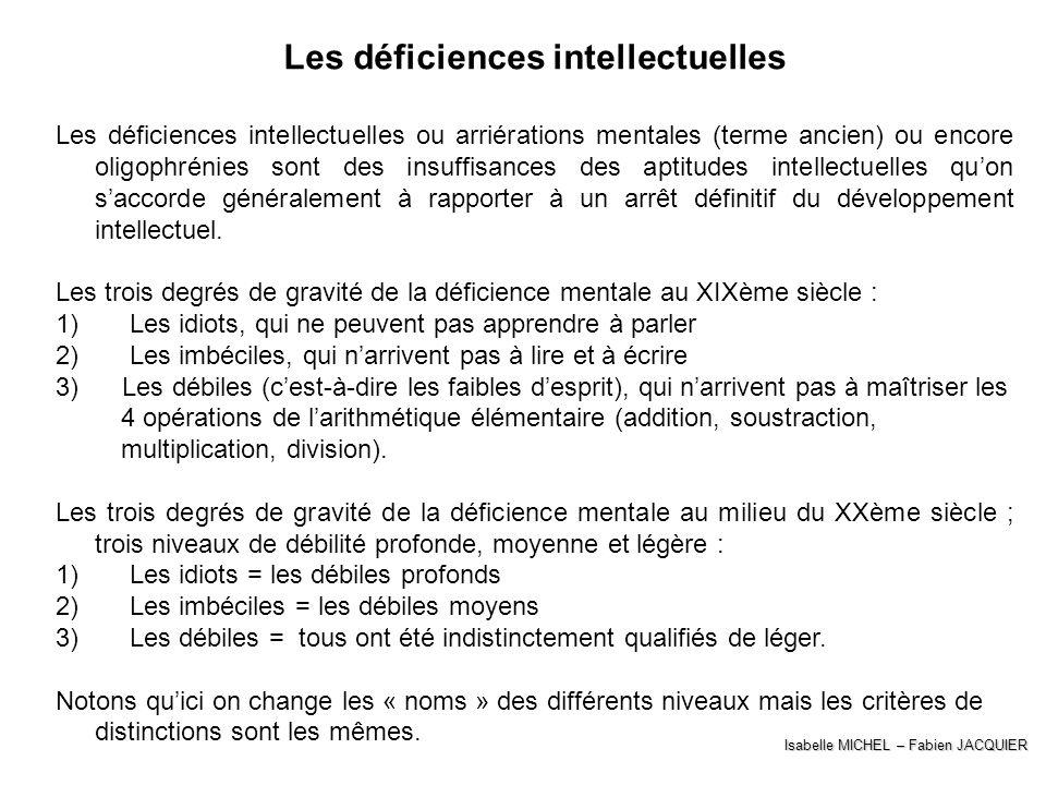 Les déficiences intellectuelles