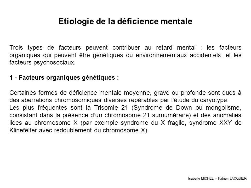 Etiologie de la déficience mentale