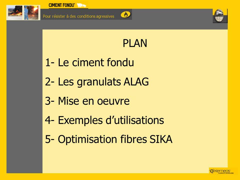 4- Exemples d'utilisations 5- Optimisation fibres SIKA