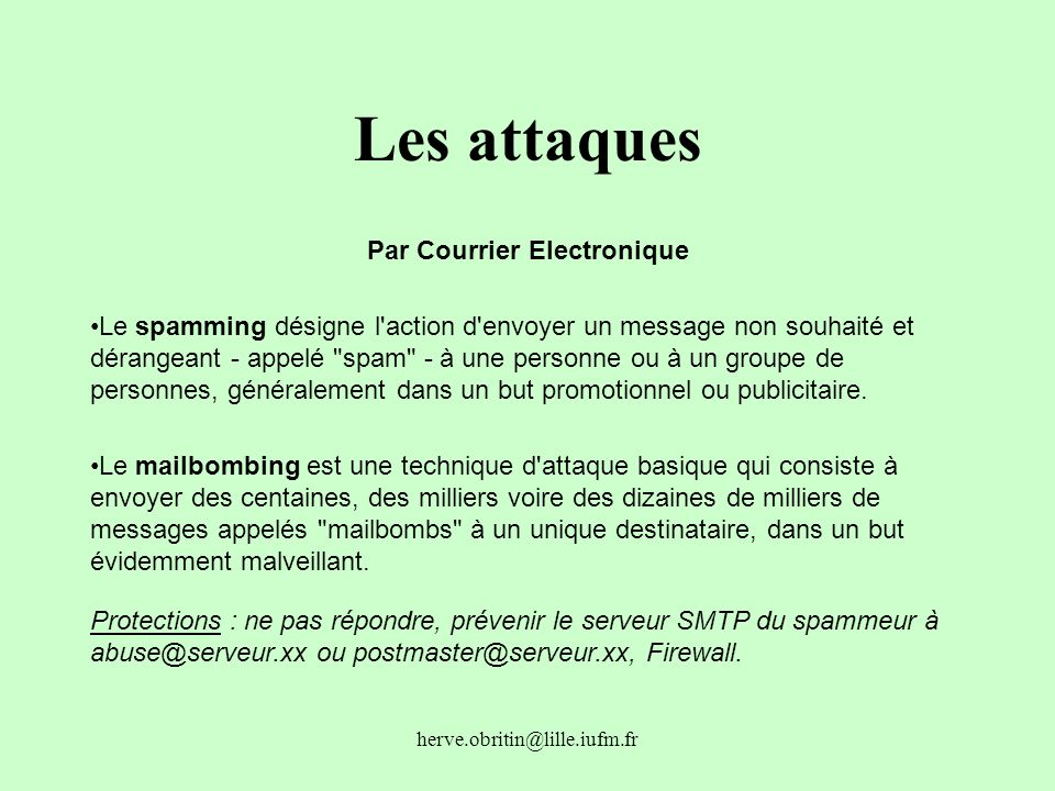 Par Courrier Electronique