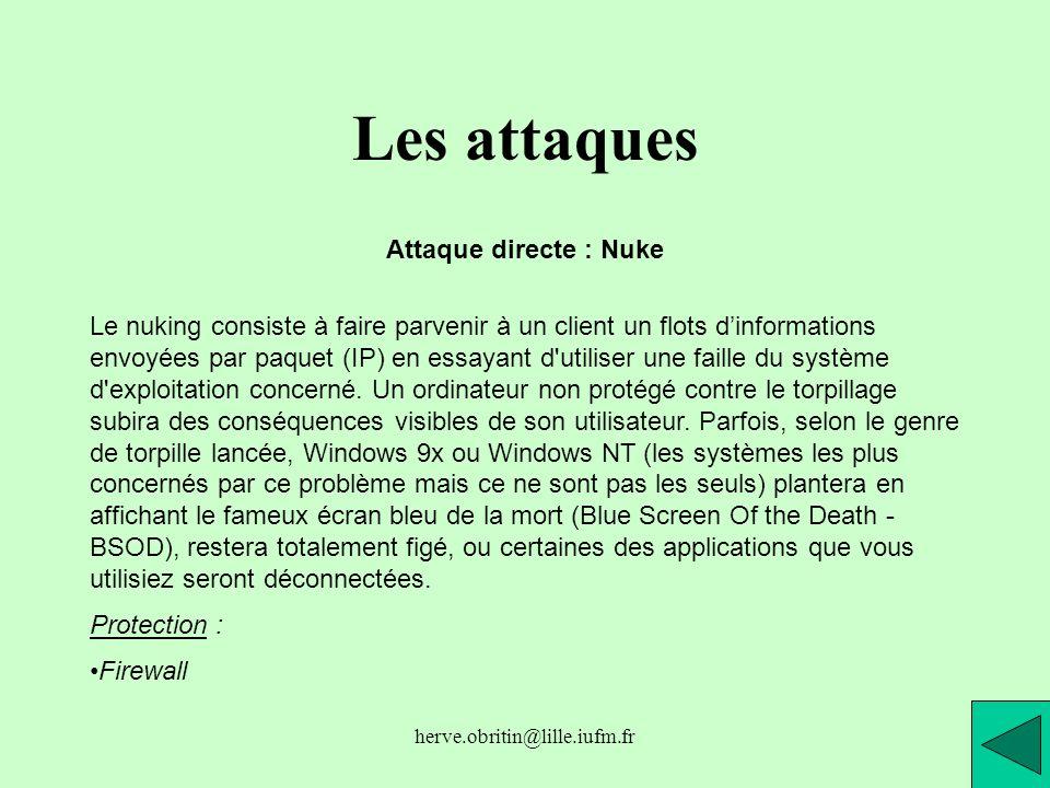 Les attaques Attaque directe : Nuke