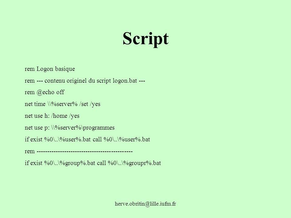 Script rem Logon basique