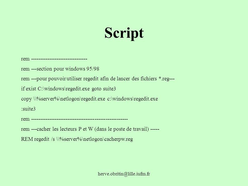 Script rem -------------------------------