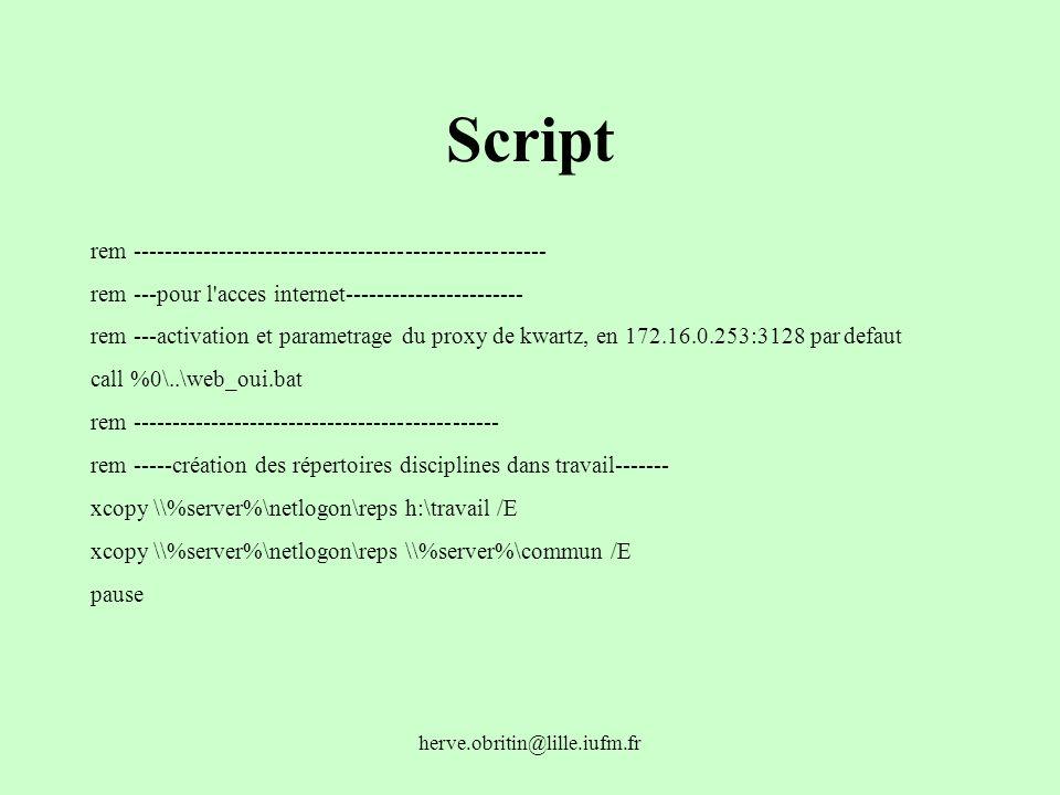 Script rem -----------------------------------------------------