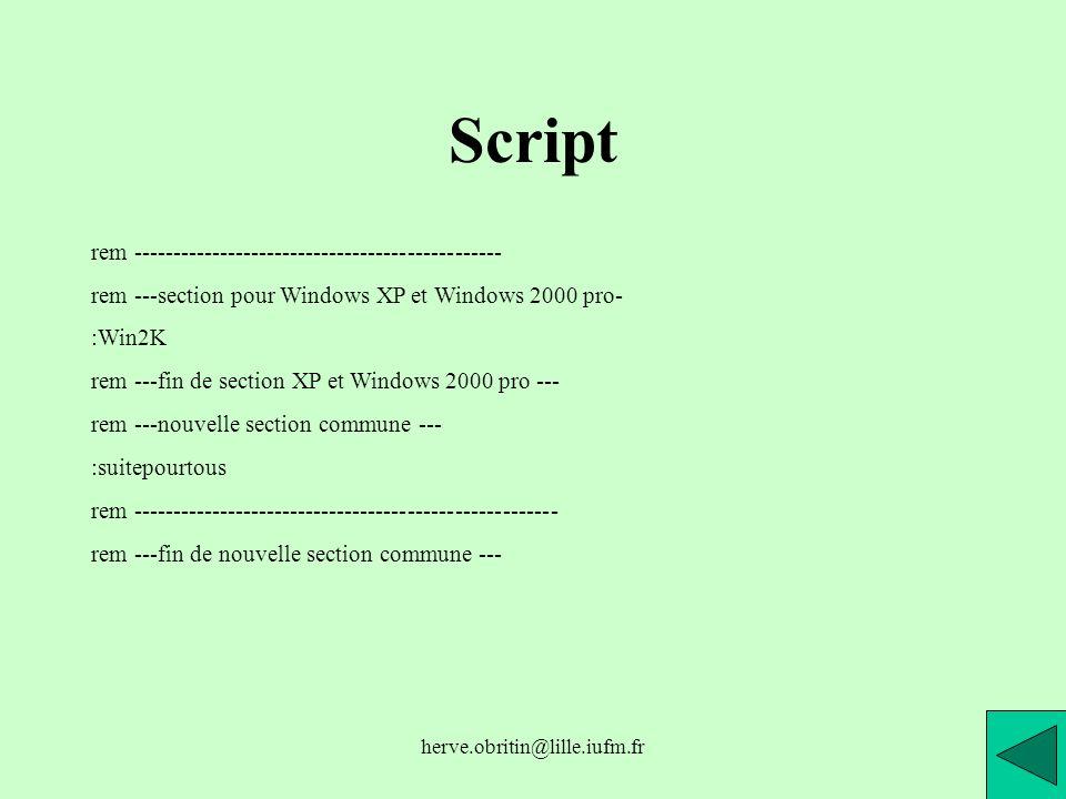Script rem -----------------------------------------------