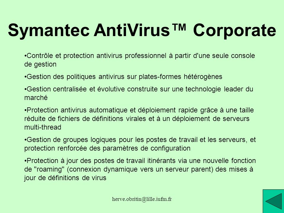 Symantec AntiVirus™ Corporate