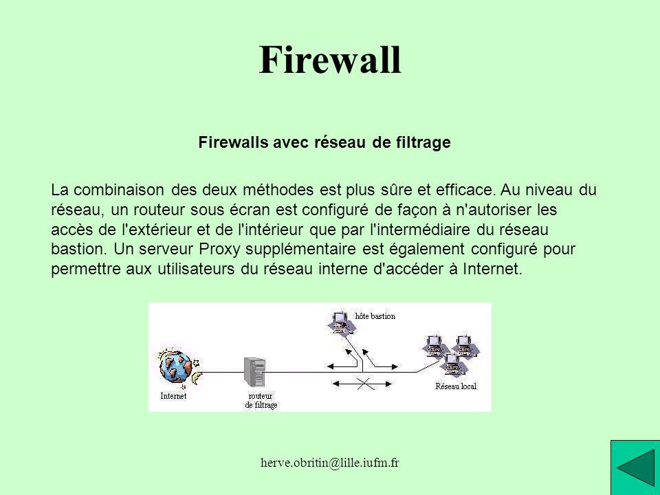 Firewalls avec réseau de filtrage