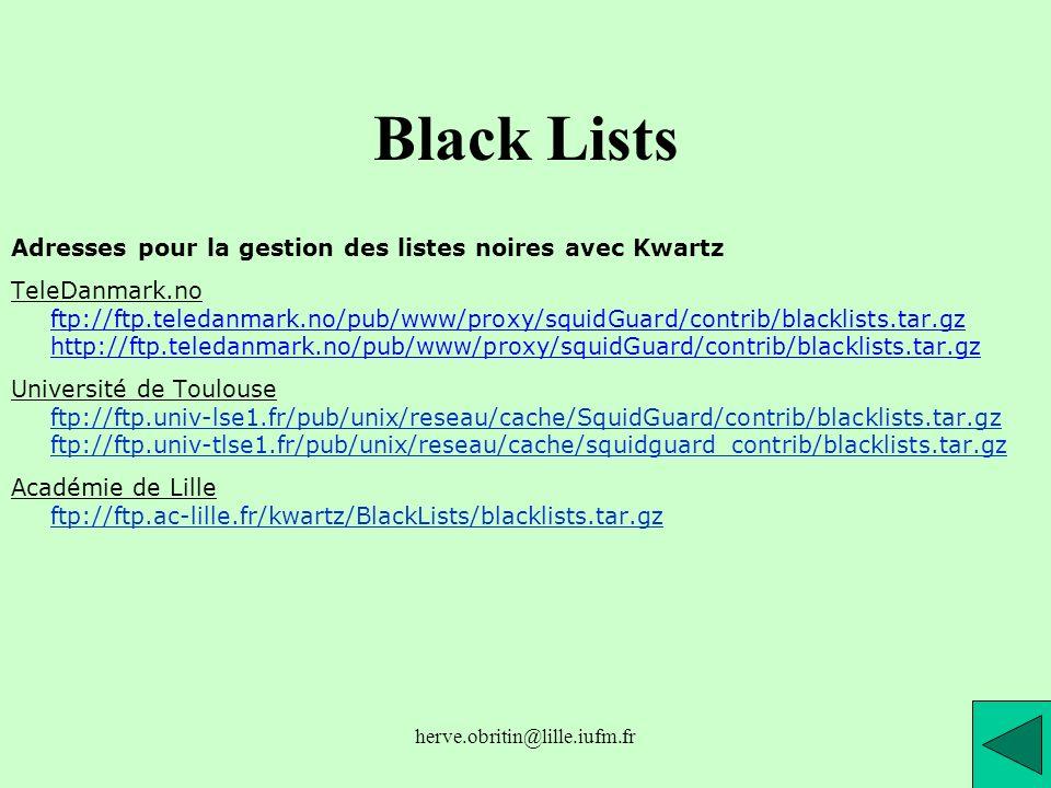 Black Lists Adresses pour la gestion des listes noires avec Kwartz