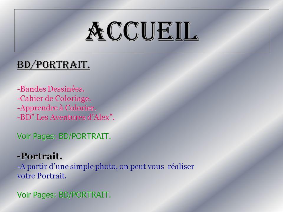 Accueil BD/PORTRAIT. -Portrait. -Bandes Dessinées.