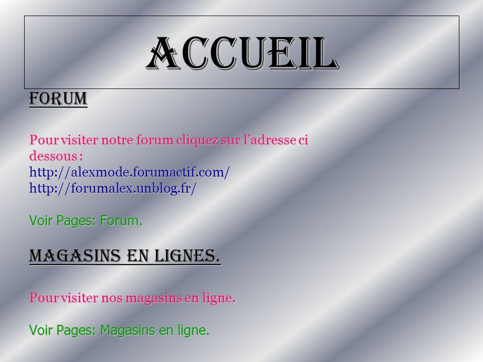 Accueil Forum Magasins en lignes.