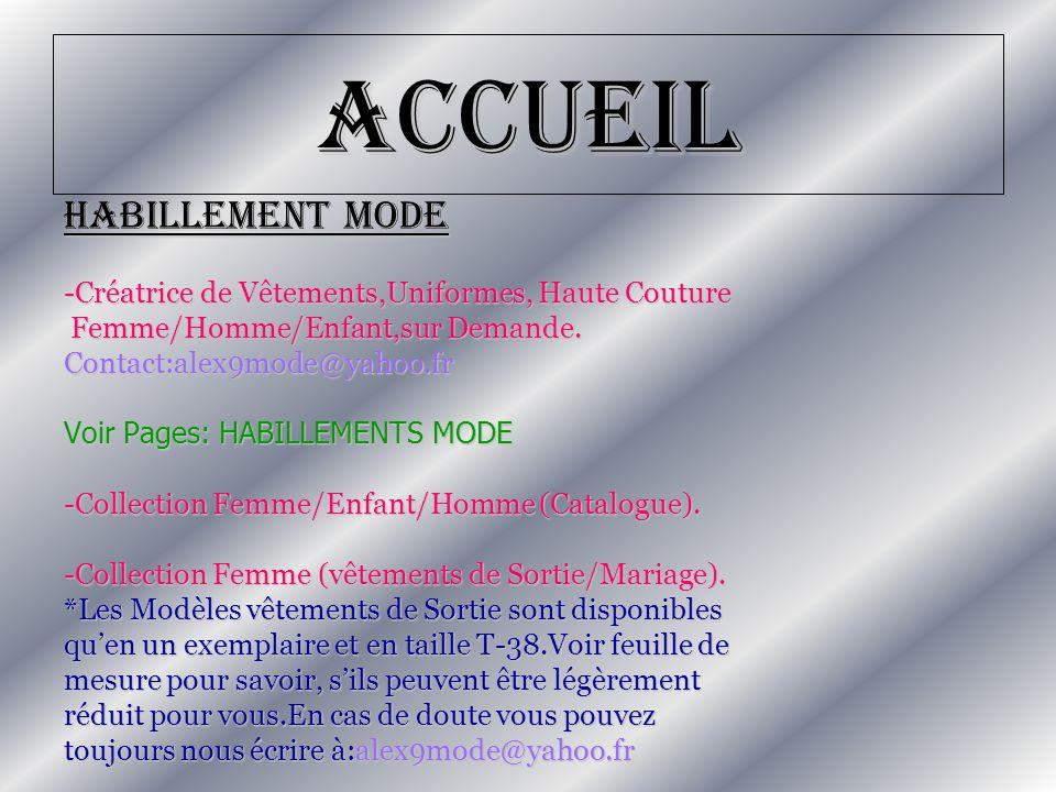 Accueil HABILLEMENT MODE