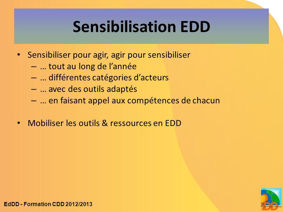 Sensibilisation EDD Sensibiliser pour agir, agir pour sensibiliser