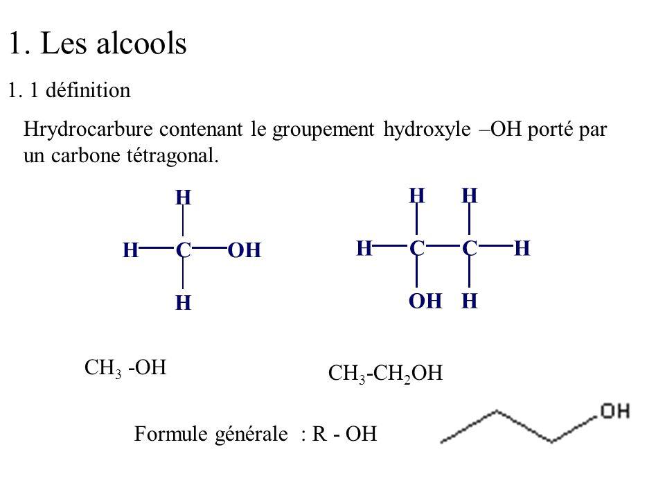 1. Les alcools 1. 1 définition