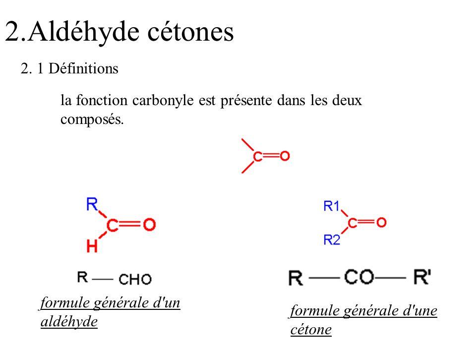 2.Aldéhyde cétones 2. 1 Définitions