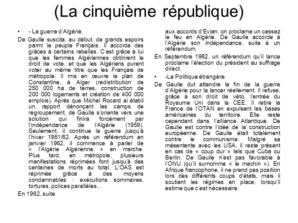 (La cinquième république)