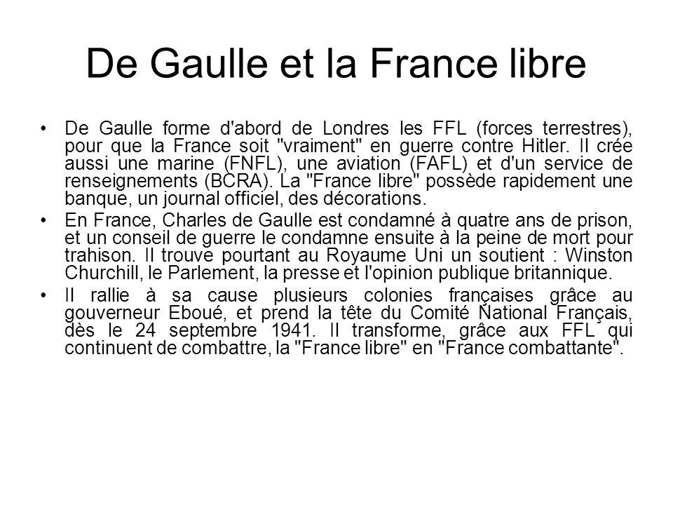 De Gaulle et la France libre