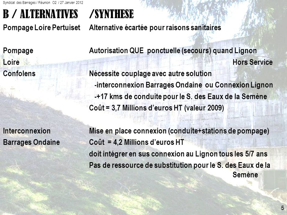 Syndicat des Barrages / Réunion O2 / 27 Janvier 2012