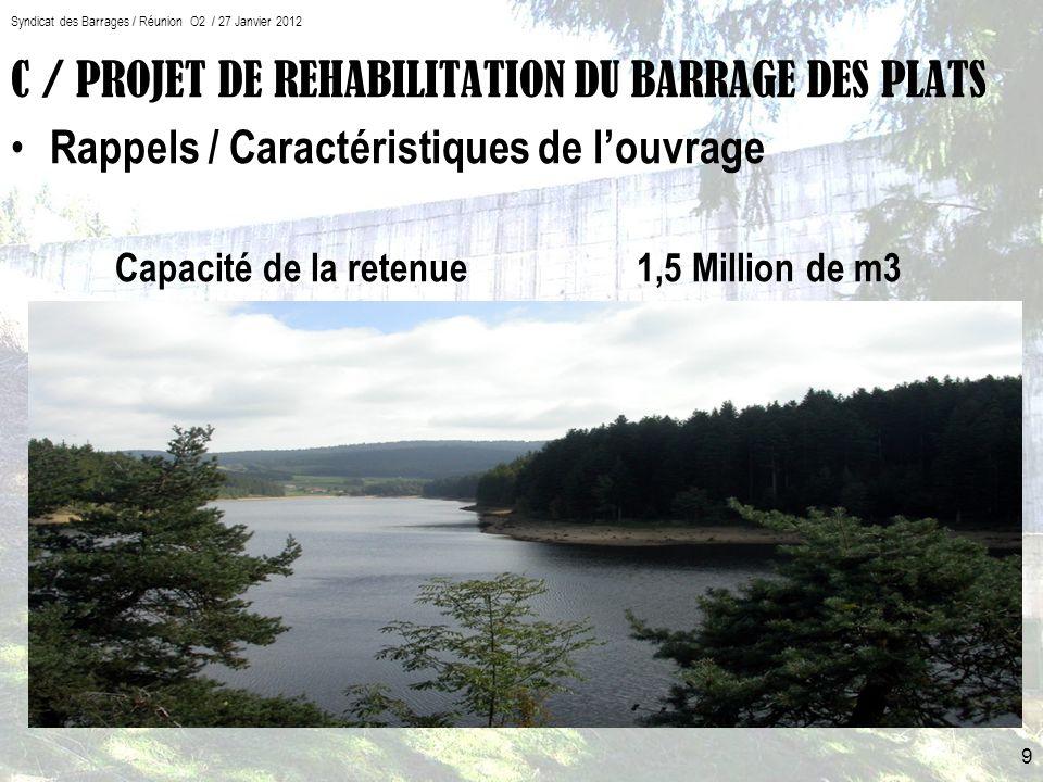 C / PROJET DE REHABILITATION DU BARRAGE DES PLATS