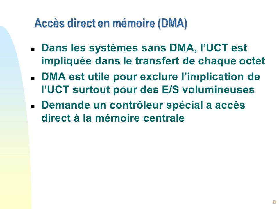 Accès direct en mémoire (DMA)