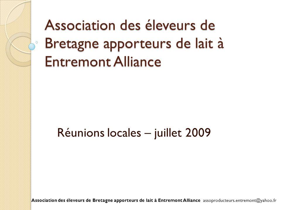 Réunions locales – juillet 2009