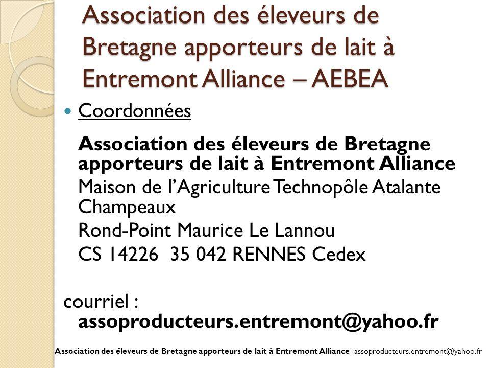 Association des éleveurs de Bretagne apporteurs de lait à Entremont Alliance – AEBEA