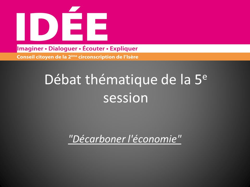 Débat thématique de la 5e session