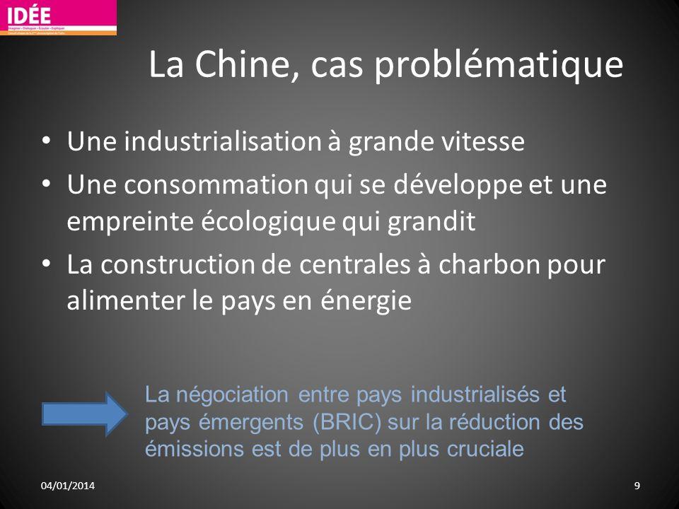 La Chine, cas problématique