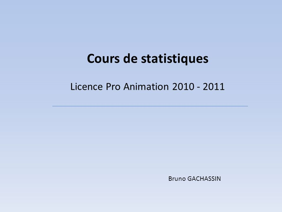 Licence Pro Animation 2010 - 2011