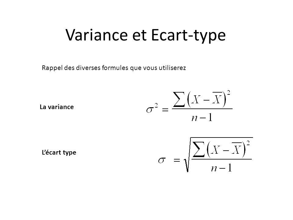 Variance et Ecart-type