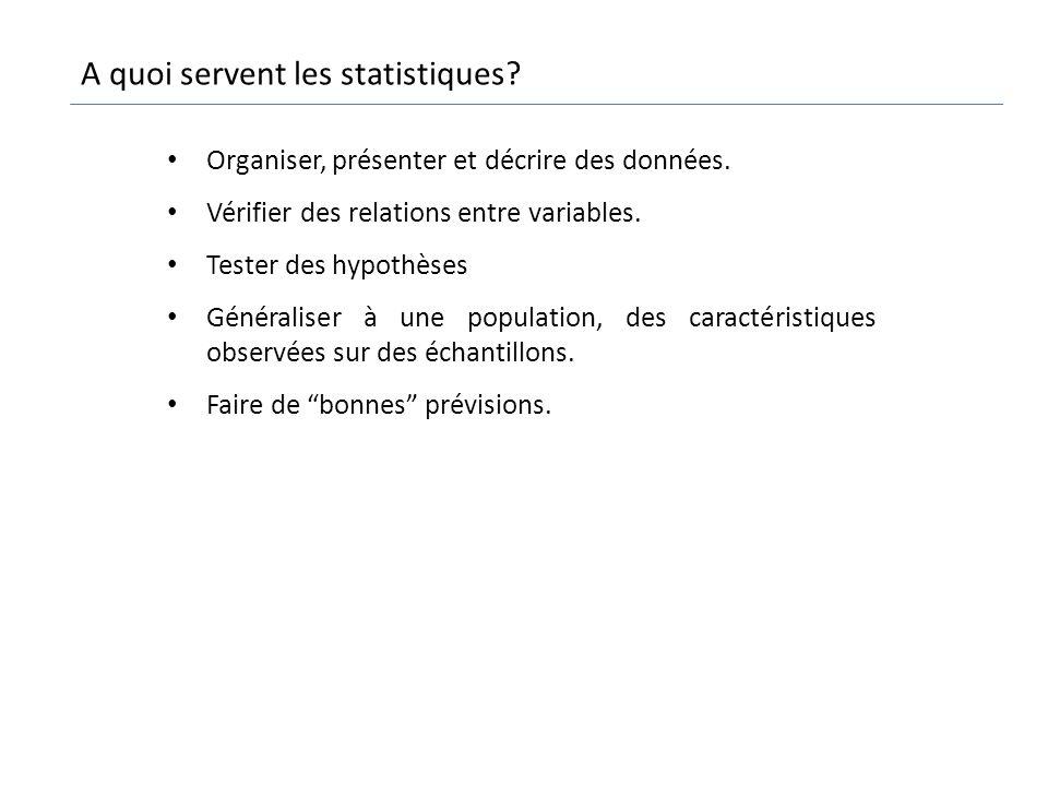 A quoi servent les statistiques