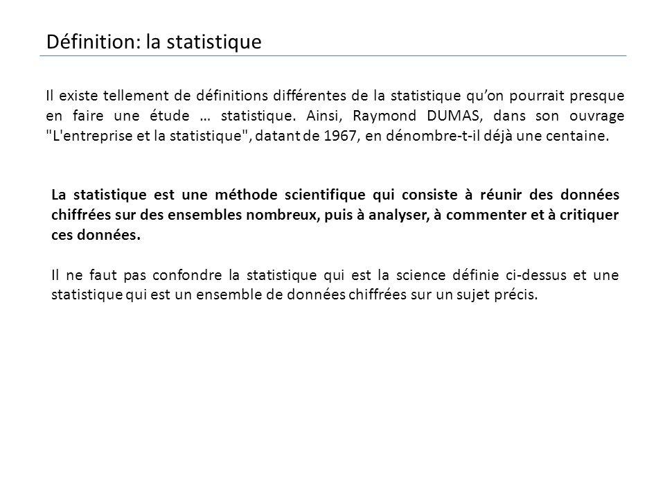 Définition: la statistique