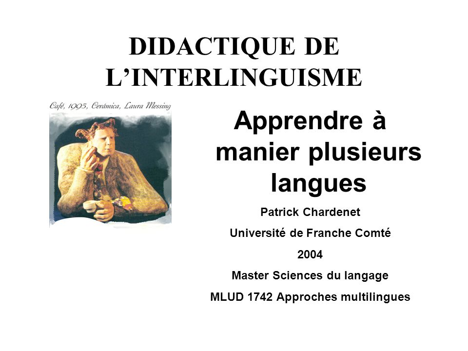 DIDACTIQUE DE L'INTERLINGUISME
