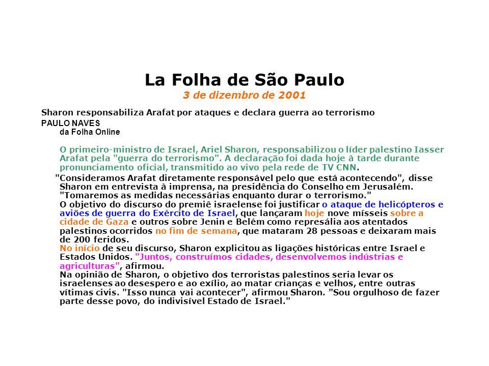 La Folha de São Paulo 3 de dizembro de 2001