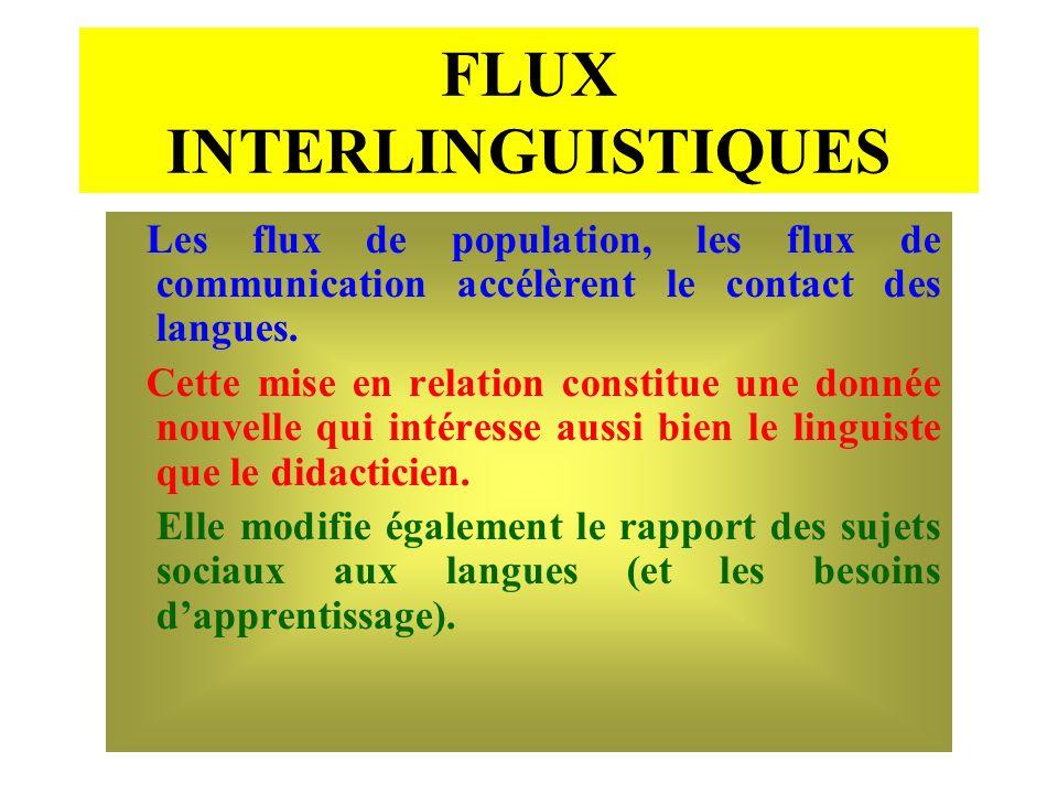 FLUX INTERLINGUISTIQUES