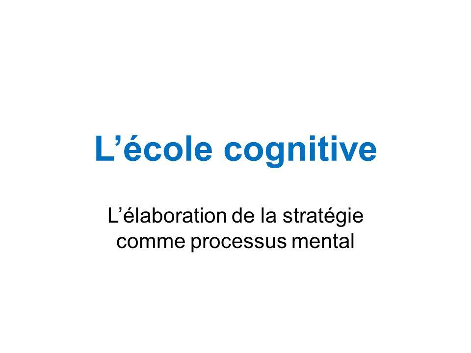 L'élaboration de la stratégie comme processus mental