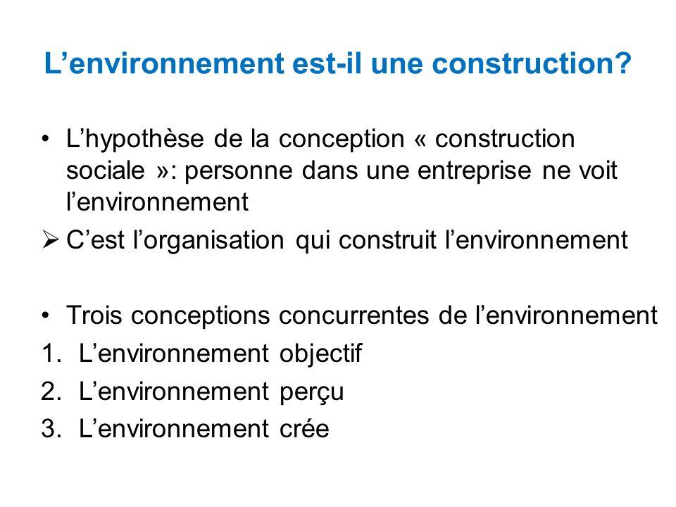 L'environnement est-il une construction
