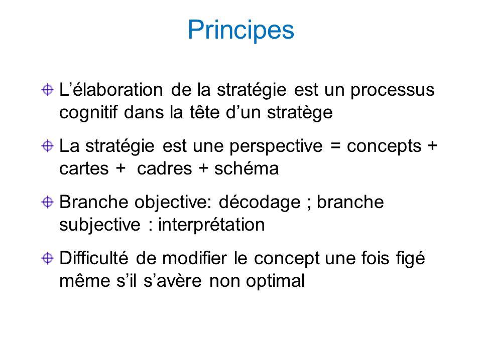 Principes L'élaboration de la stratégie est un processus cognitif dans la tête d'un stratège.