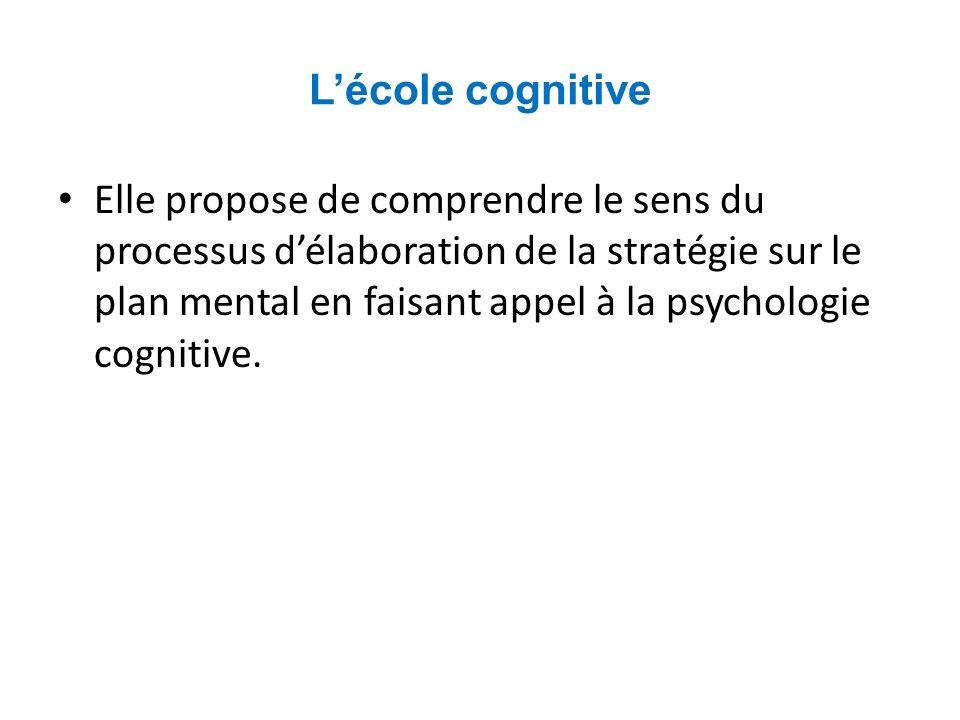 L'école cognitive