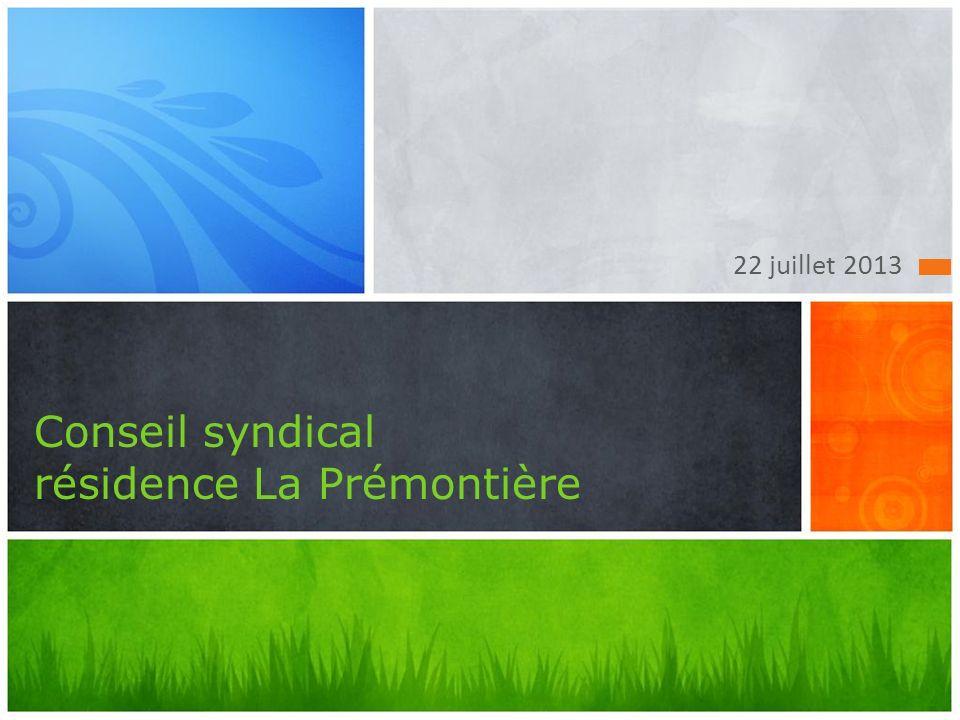 Conseil syndical résidence La Prémontière