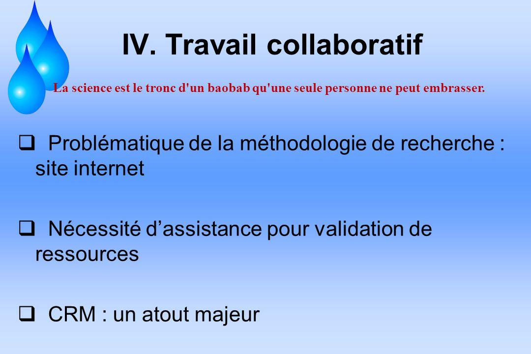 IV. Travail collaboratif