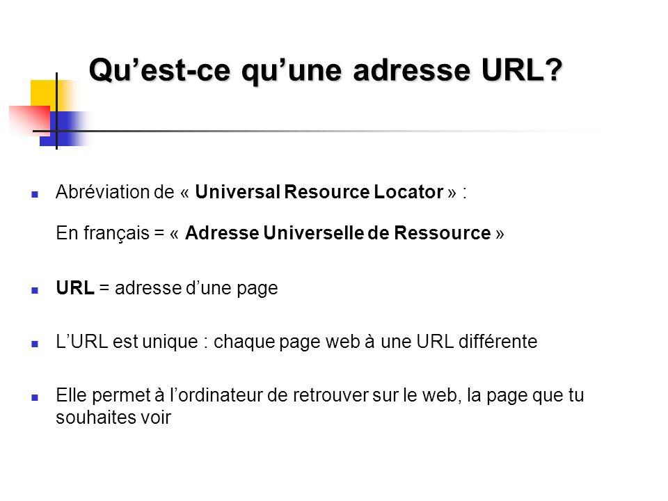 Qu'est-ce qu'une adresse URL