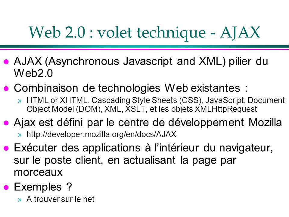 Web 2.0 : volet technique - AJAX