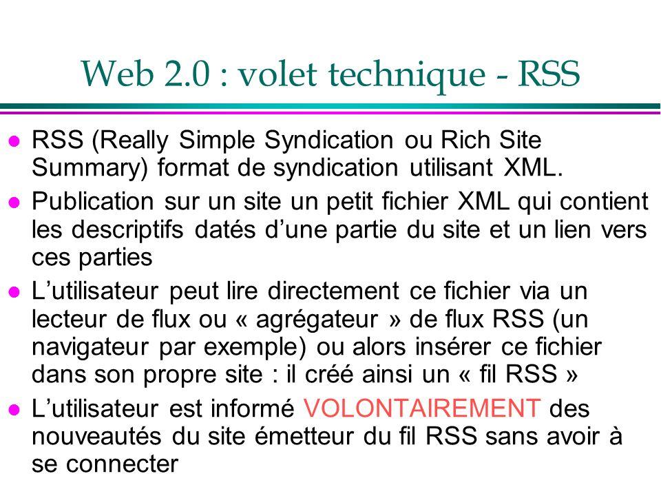 Web 2.0 : volet technique - RSS